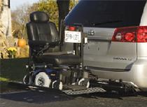 Bruno Meridian ASL250 vehicle lift for wheelchair scooter
